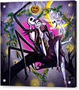 Sweet Loving Dreams In Halloween Night Acrylic Print by Alessandro Della Pietra