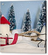 Sweet Sleigh Ride Acrylic Print by Heather Applegate