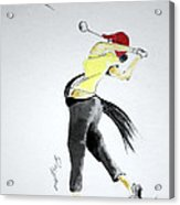 Swing For Hole One Acrylic Print by Jalal Gilani