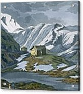 Switzerland Hospice Of St. Bernard Acrylic Print by Italian School