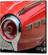 T-bird Tail Acrylic Print by Dennis Hedberg
