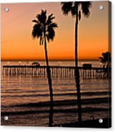 T Street Pier San Clemente California From The Book My Ocean Acrylic Print by Artist and Photographer Laura Wrede