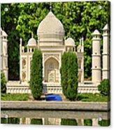 Taj Mahal Acrylic Print by Ricky Barnard
