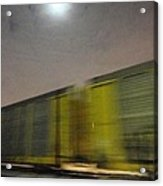 Take A Fast Train Acrylic Print by Guy Ricketts