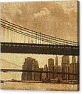 Tale Of Two Bridges Acrylic Print by Joann Vitali