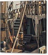 Tall Ship Kalmar Nyckel Ropes Acrylic Print by Dapixara Art