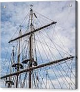 Tall Ship Masts Acrylic Print by Dale Kincaid
