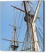 Tall Ship Rigging Acrylic Print by Dale Kincaid