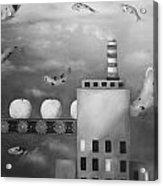 Tangerine Dream Edit 4 Acrylic Print by Leah Saulnier The Painting Maniac