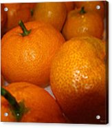 Tangerines 01 Acrylic Print by Brian Gilna