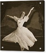 Tatiana Riabouchinska In Les Sylphides Acrylic Print by French Photographer