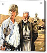 Tatooine Massacre Acrylic Print by Edward Draganski