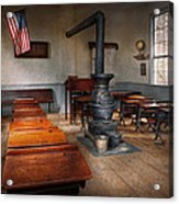 Teacher - First Day Of School Acrylic Print by Mike Savad