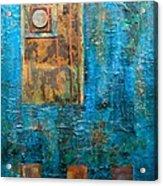 Teal Windows Acrylic Print by Debi Starr