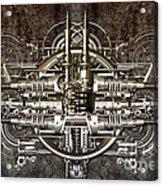 Technically Electronic Background Acrylic Print by Diuno Ashlee
