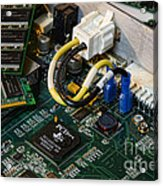 Technology - The Motherboard Acrylic Print by Paul Ward