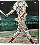 Ted Williams Painting Acrylic Print by Florian Rodarte