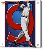 Ted Williams Acrylic Print by Ron Regalado