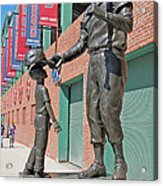 Ted Williams Statue Acrylic Print by Barbara McDevitt