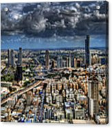 Tel Aviv Love Acrylic Print by Ron Shoshani
