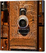 Telephone - Antique Wall Telephone Acrylic Print by Lee Dos Santos