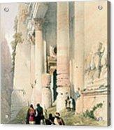 Temple Called El Khasne Acrylic Print by David Roberts