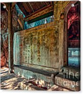 Temple Cave Acrylic Print by Adrian Evans