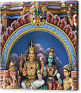 Temple Deity Statues India Acrylic Print by Tim Gainey