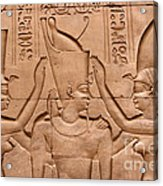 Temple Of Horus Relief Acrylic Print by Stephen & Donna O'Meara
