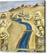 Temple Of Horus Two Out Of Three Acrylic Print by Michael Cook