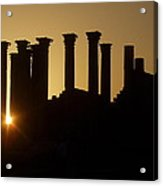 Temple Sunset Acrylic Print by James Tweedie