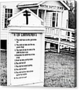 Ten Commandments Acrylic Print by Scott Pellegrin