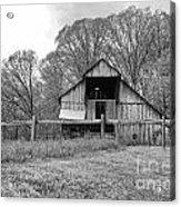 Tennessee Barn Bw Acrylic Print by Chuck Kuhn