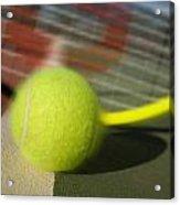 Tennis Ball And Racquet Acrylic Print by Joe Belanger