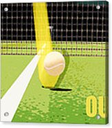 Tennis Hawkeye Out Acrylic Print by Natalie Kinnear