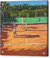 Tennis Practice Acrylic Print by Andrew Macara