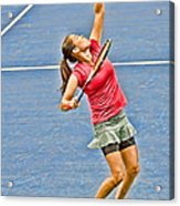 Tennis Star Jamie Hampton Acrylic Print by Harold Bonacquist