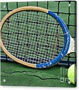 Tennis - Vintage Tennis Racquet Acrylic Print by Paul Ward