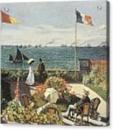 Terrace At Sainte-andresse Acrylic Print by Claude Monet