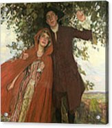 Tess Of The D'urbervilles Or The Elopement Acrylic Print by William Hatherell