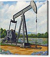 Texas Oil Well Acrylic Print by Jimmie Bartlett