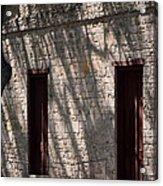 Texas Pioneer Church Doors Acrylic Print by Connie Fox