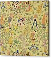 Textile Design For Alice In Wonderland Acrylic Print by Voysey
