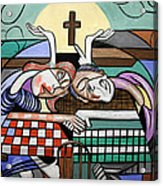 Thank You Jesus When Two Or More Are Gathered Acrylic Print by Anthony Falbo