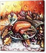 Thanksgiving Dinner Acrylic Print by Shana Rowe Jackson