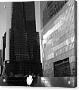 The 911 Memorial In Black And White Acrylic Print by Dan Sproul