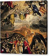 The Adoration Of The Name Of Jesus Acrylic Print by El Greco Domenico Theotocopuli