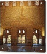 The Alhambra King Room Acrylic Print by Guido Montanes Castillo
