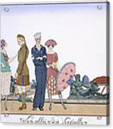 The Allies In Versailles Acrylic Print by Georges Barbier