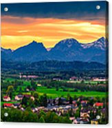 The Alps 01 Acrylic Print by Tom Uhlenberg
